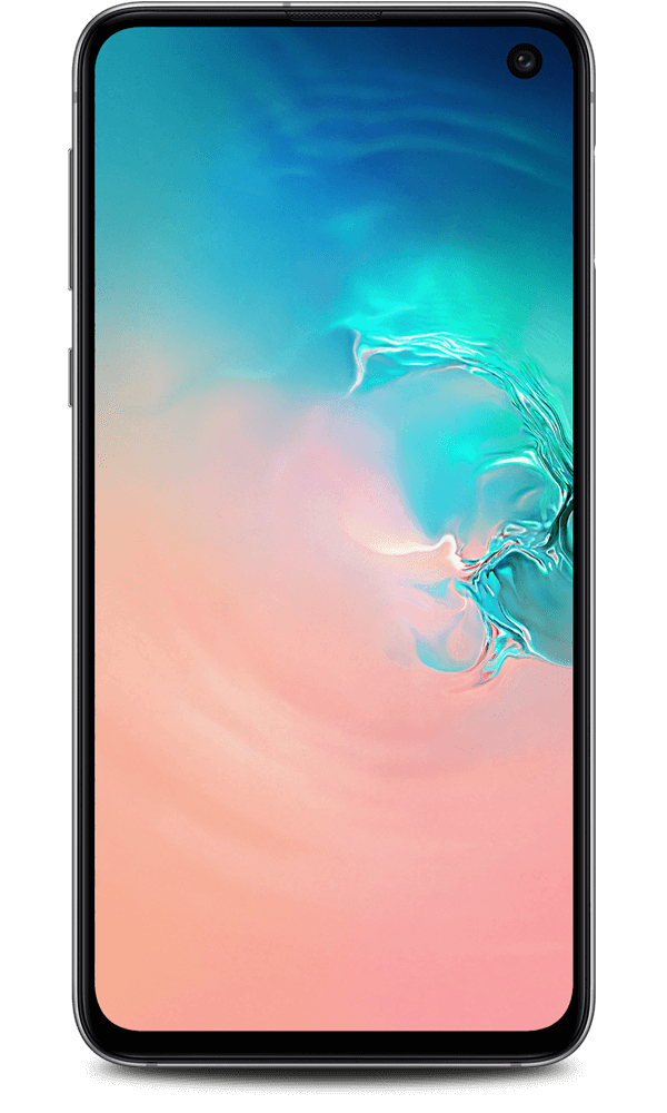 Samsung Galaxy S10e in white