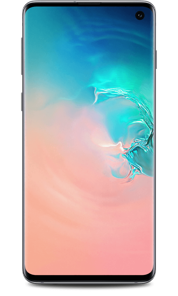 Samsung Galaxy S10 in white