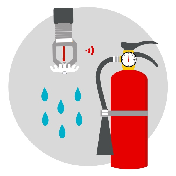 Sprinkler and fire extinguisher