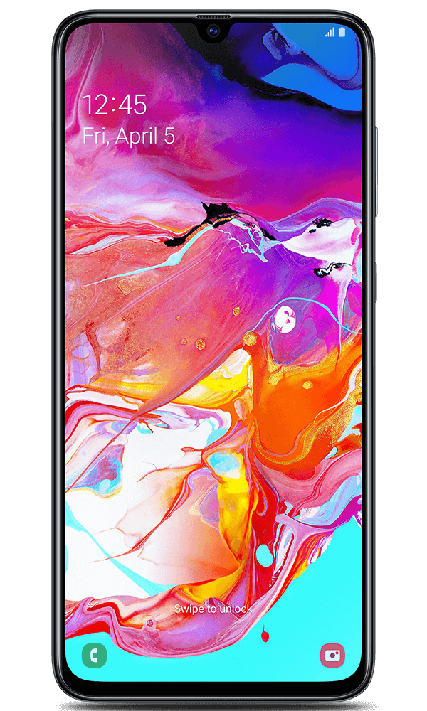 Samsung Galaxy A70 in black