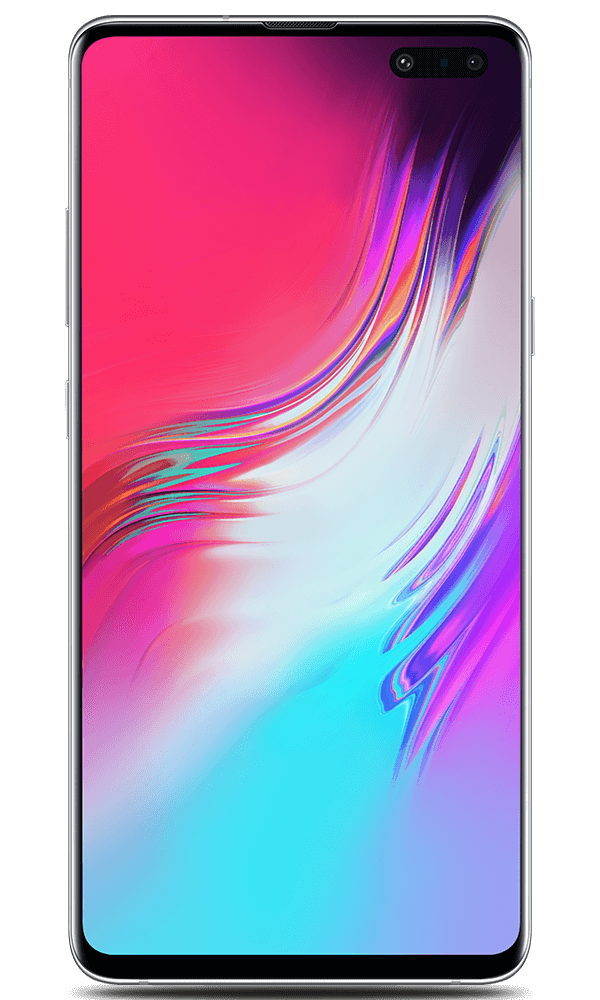 Samsung Galaxy S10 5G in silver