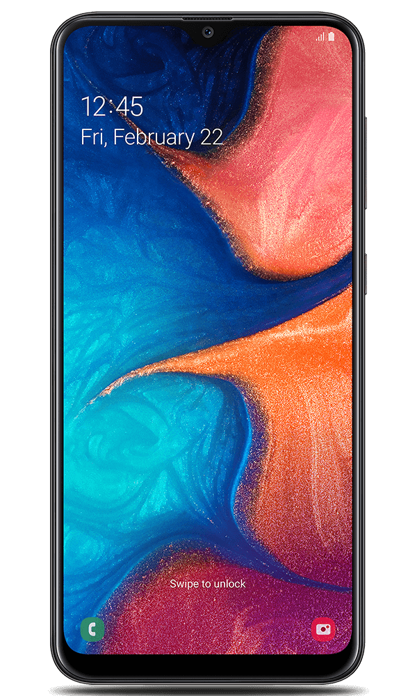 Samsung Galaxy A20e in black