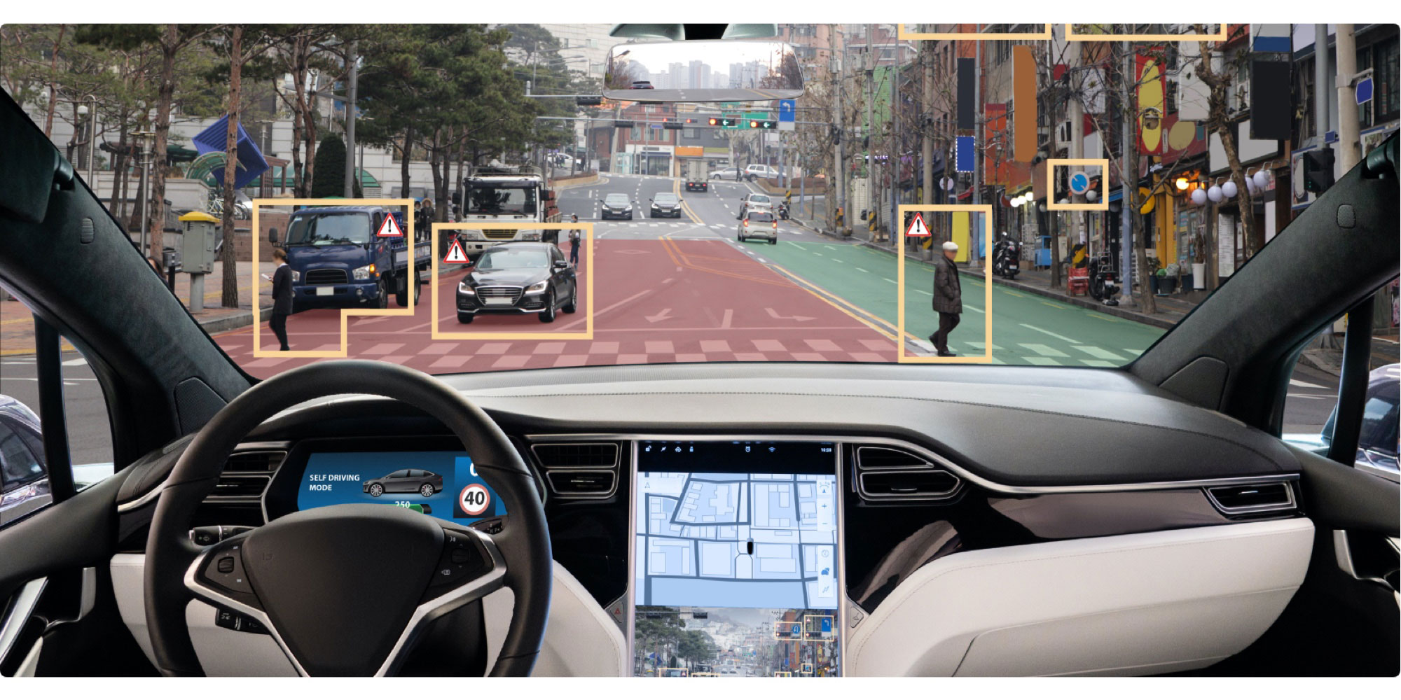 View from an autonomous vehicle