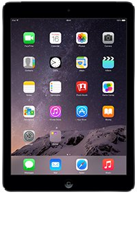 The 16GB Apple iPad Air in space grey from Vodafone