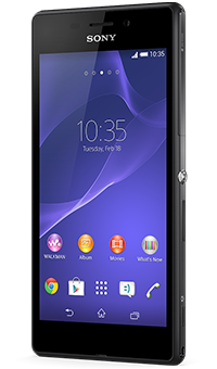 Sony Xperia M2 Aqua in black on Pay as you go from Vodafone