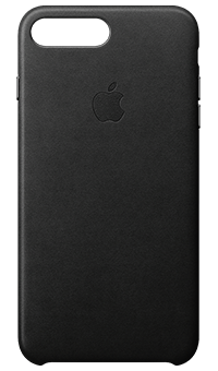 Apple iPhone 8 Plus Leather Case Black