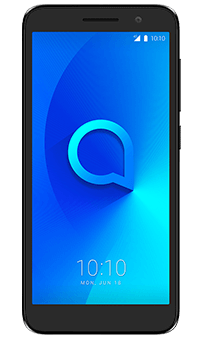 Alcatel 1 black PAYG - Front