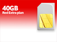 40GB SIM Only Red Extra