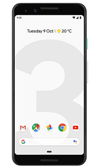 Google Pixel 3 in Clearly White
