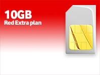 10GB SIM only Red Extra plan