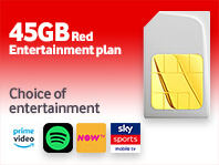 45GB SIM Only Red Entertainment