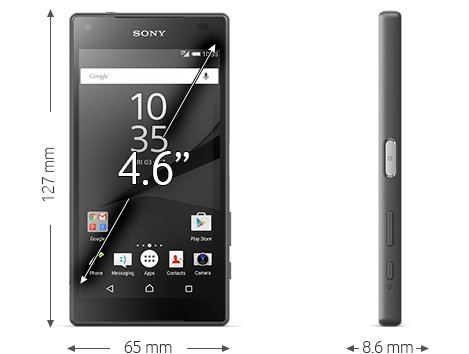 buy the sony xperia z5 compact black from vodafone. Black Bedroom Furniture Sets. Home Design Ideas