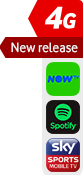 4G New Release NOW TV Spotify Sky Sports sticker