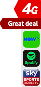 4G Great Deal NOW TV Spotify Sky Sports sticker