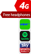 4G Free Headphones NOW TV Spotify Sky Sports sticker