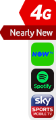 4G nearly new NOW TV Spotify Sky Sports sticker