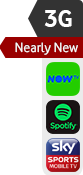 3G nearly new NOW TV Spotify Sky Sports sticker
