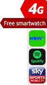 4G Free Smartwatch NOW TV Spotify Sky Sports sticker