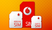 SIM card and microSIM