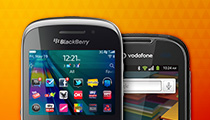 BlackBerry and Vodafone smartphones
