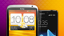 HTC and Sony smartphones