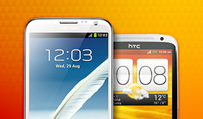 Samsung and HTC smartphones