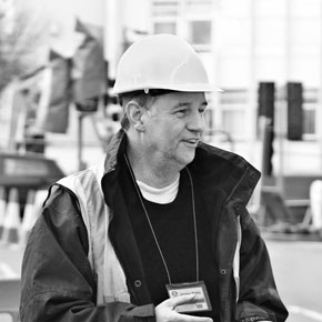 Local government worker in hard hat