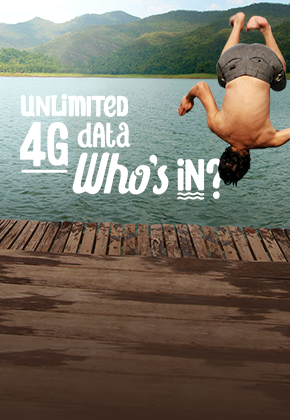 Unlimited 4G data poster
