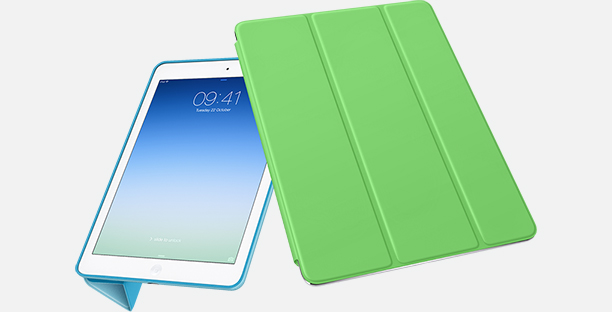 ipad air smart cover and case side by side