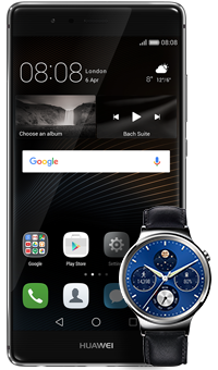 Huawei P9 and W1 Classic smartwatch