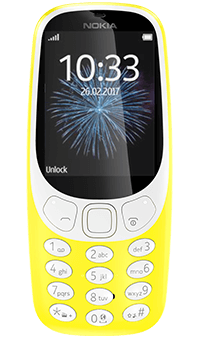 Nokia 3310 in yellow