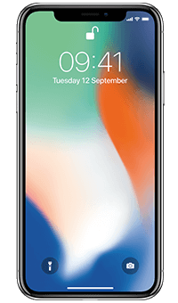 Apple iPhone X Silver - Front
