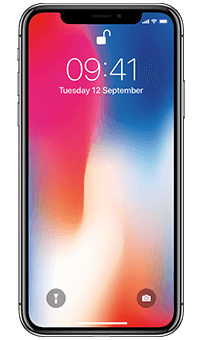 Apple iPhone X Space Grey - Front