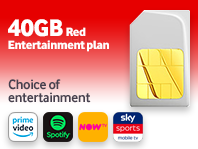 SIM only Red Entertainment 40GB