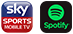 spotify and sky sports