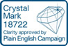 Crystal Mark 18722 Clarity approved by Plain English Campaign